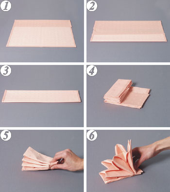 Napkin Folding - Asian fan