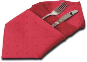 Napkin Folding - Couvert for appliances.