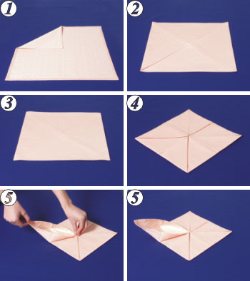 Napkin Folding - Royal Lily.