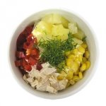 Quickly and easily - 7 variants mini salads.